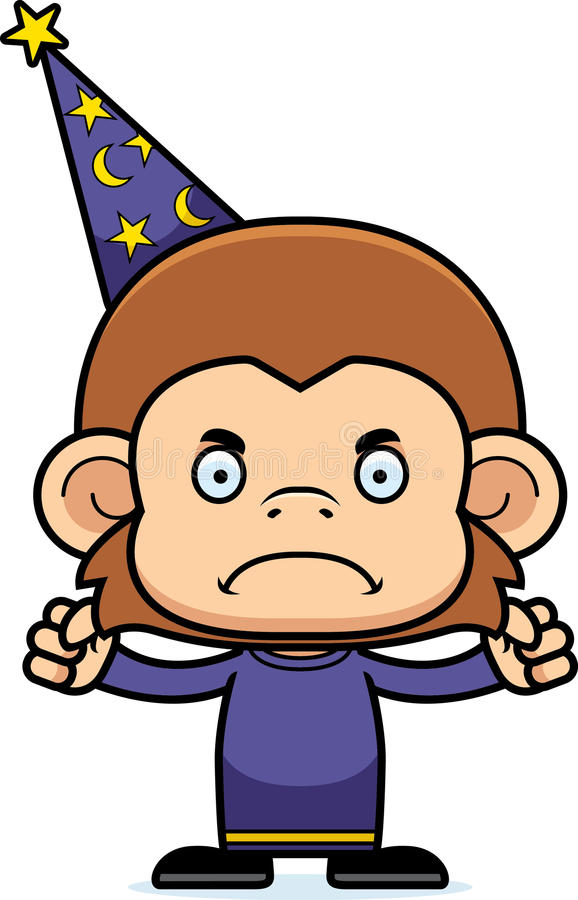 cartoon angry wizard monkey stock vector illustration of frown rh dreamstime com frown clipart Smile Clip Art