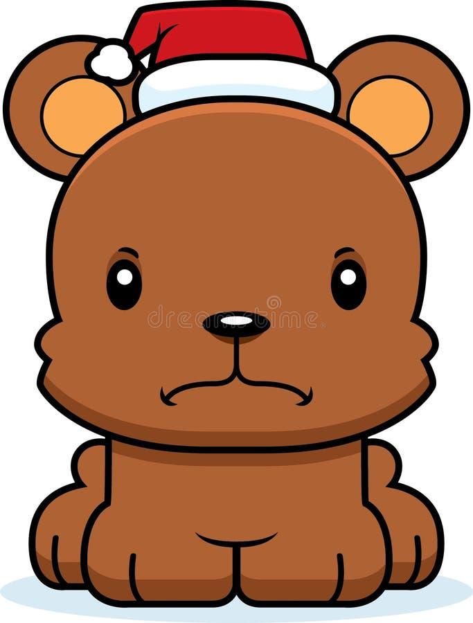 Cartoon Angry Xmas Bear royalty free illustration