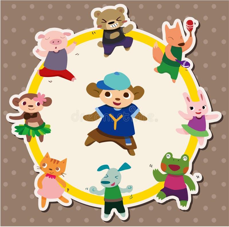 Cartoon Animal Dance Card Royalty Free Stock Images