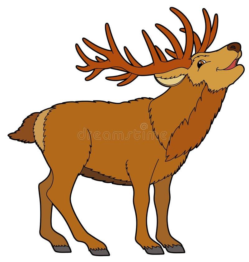 Cartoon Animal - Deer -  Illustration For The Children Stock Illustration