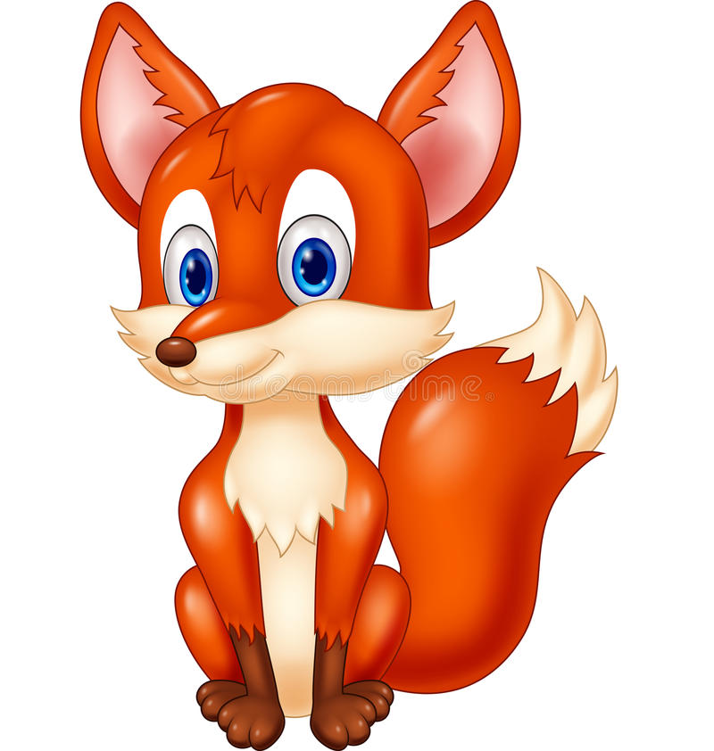 Cartoon animal fox illustration stock illustration