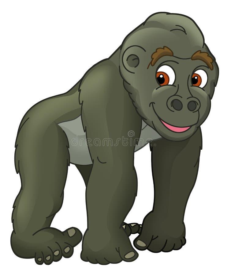 cartoon animal gorilla caricature stock illustration rh dreamstime com gorilla clipart free gorilla clipart black and white