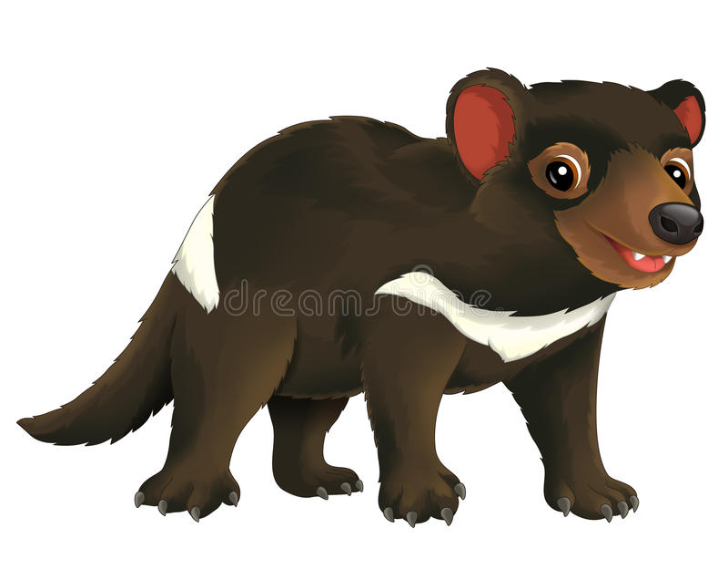 Cartoon animal - illustration for the children royalty free illustration