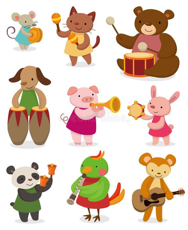 Free Cartoon Animal Playing Music Stock Photography - 20635112