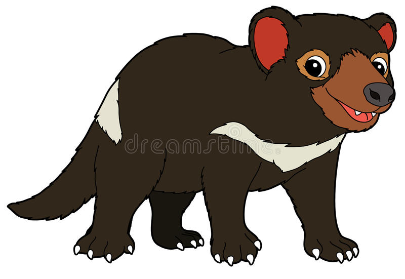 cartoon animal tasmanian devil illustration for the children rh dreamstime com Tasmanian Devil Graphics tasmanian devil clipart