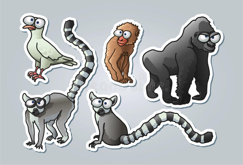 Cartoon animals royalty free illustration