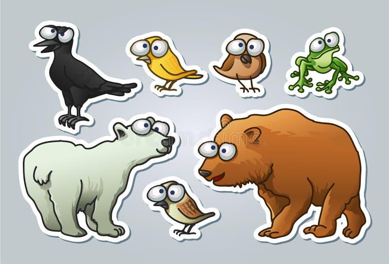 Cartoon animals stock illustration