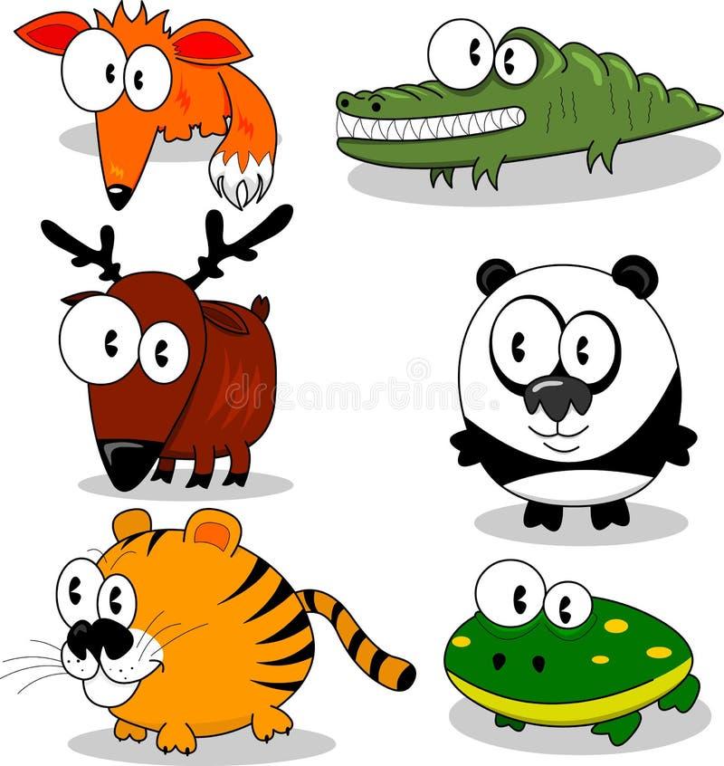 Cartoon animals royalty free stock images
