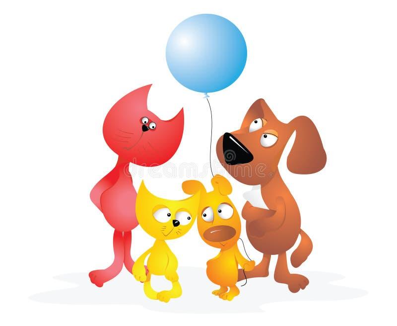 Cartoon animals stock photo
