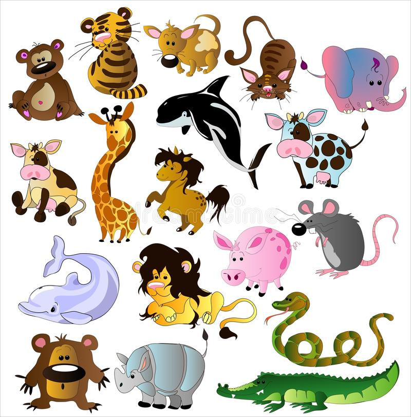 Cartoon animals vector stock photos