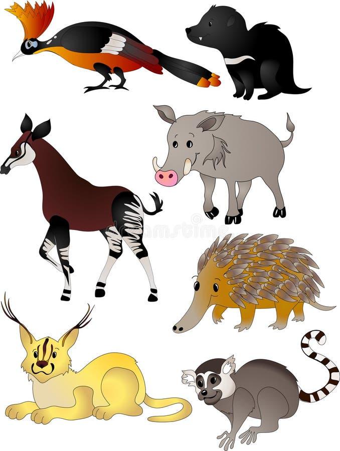 Download Cartoon animals vector stock vector. Image of lemur, anteater - 12279203