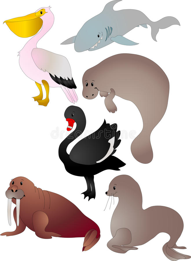 Free Cartoon Animals Vector Royalty Free Stock Images - 12279219