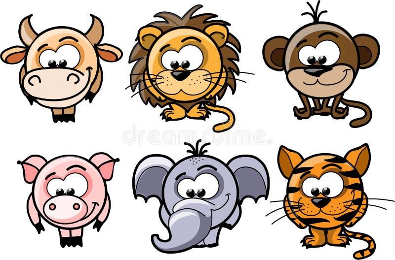 Cartoon  Animals,vector Royalty Free Stock Photography