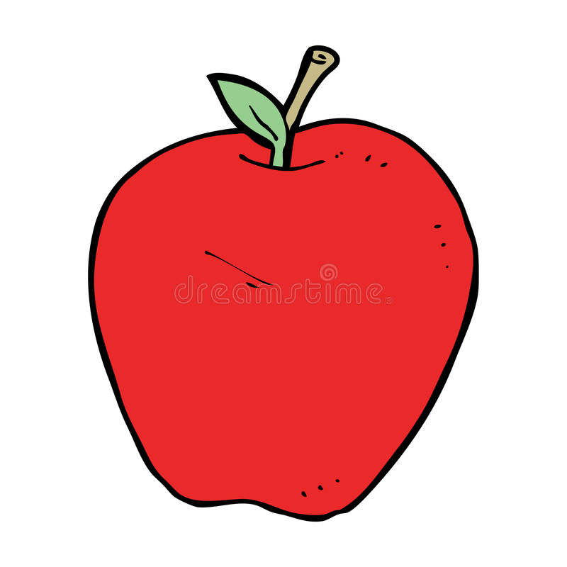 cartoon apple stock vector illustration of simple character 37015065 rh dreamstime com cartoon apples showing support cartoon apples with faces