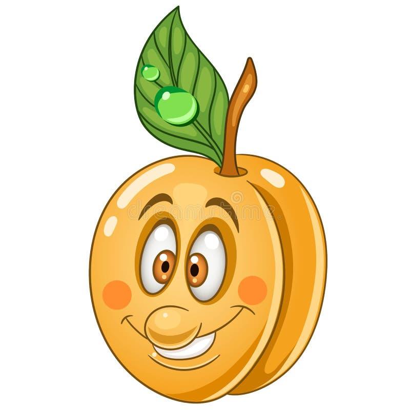 Cartoon apricot character royalty free stock image