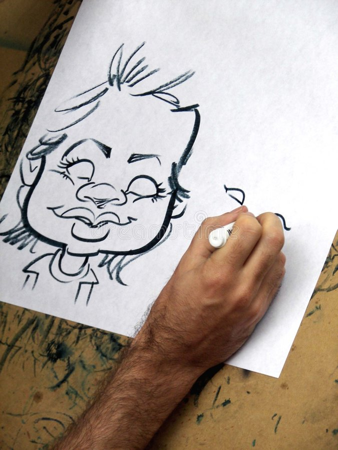 Download Man drawing caricature stock image. Image of male, hairy - 2959805