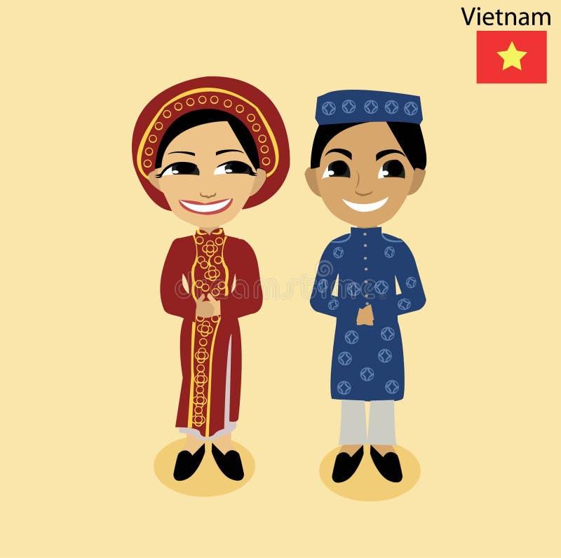 Cartoon ASEAN Viet Nam stock image