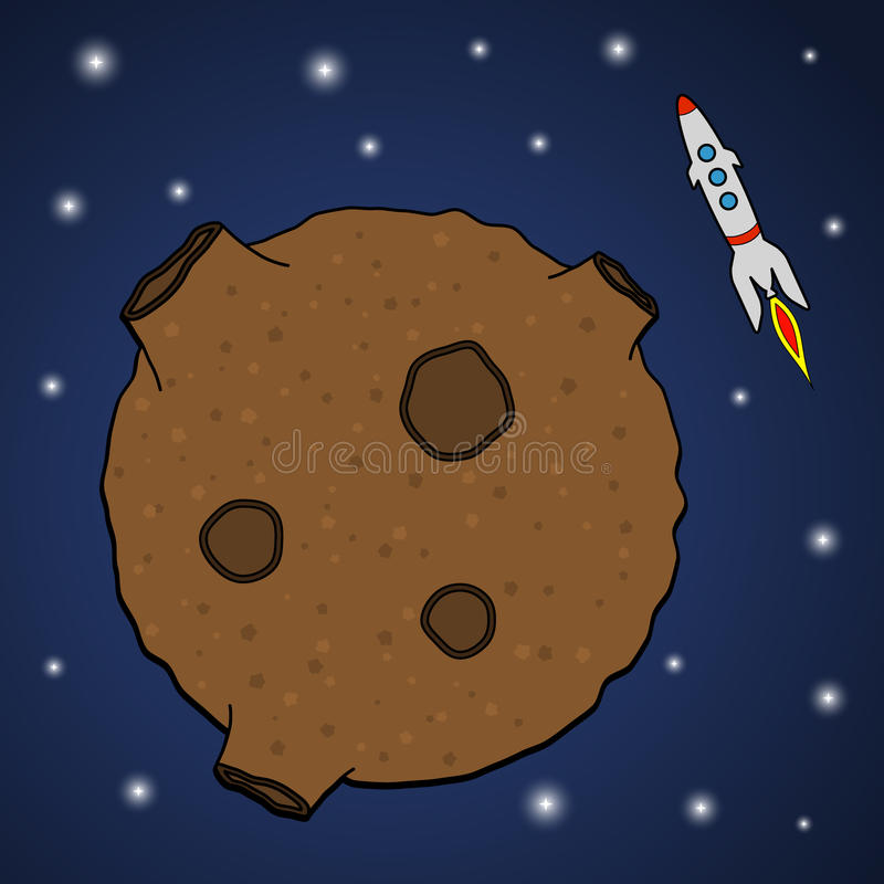 Asteroid And Rocket Royalty Free Stock Photos - Image ...