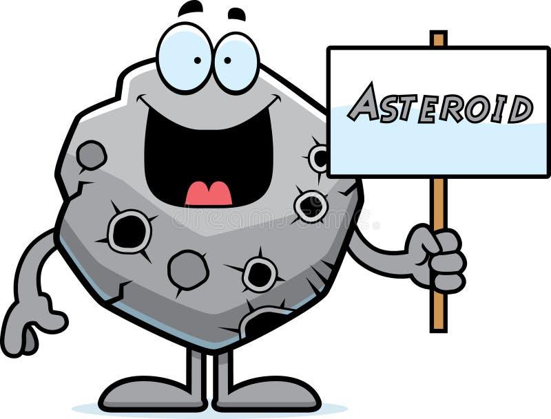 Cartoon Asteroid Sign stock vector. Illustration of sign ...