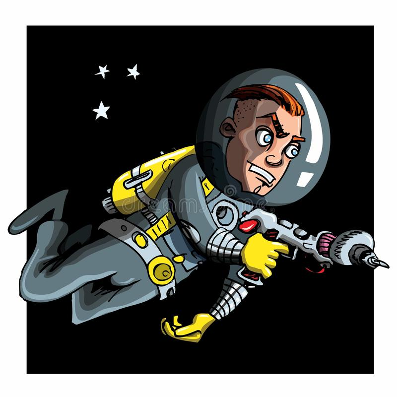 Download Cartoon Astronaout In A Space Suit Stock Vector - Image: 19259989