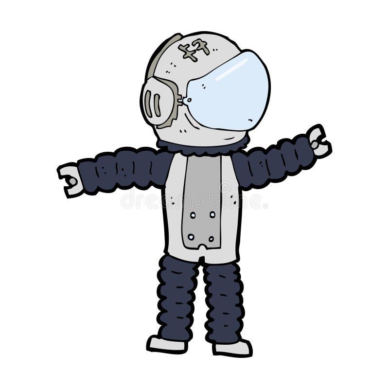 Cartoon Astronaut Reaching Stock Image - Image: 37012261