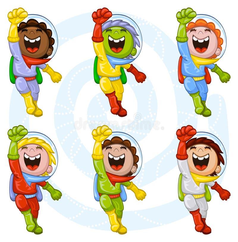 Download Cartoon astronauts stock vector. Illustration of hispanic - 23184502