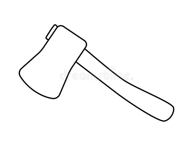 Cartoon ax, hatchet silhouette vector symbol icon design. Cartoon ax, hatchet vector symbol icon design. Beautiful illustration isolated on white background royalty free illustration