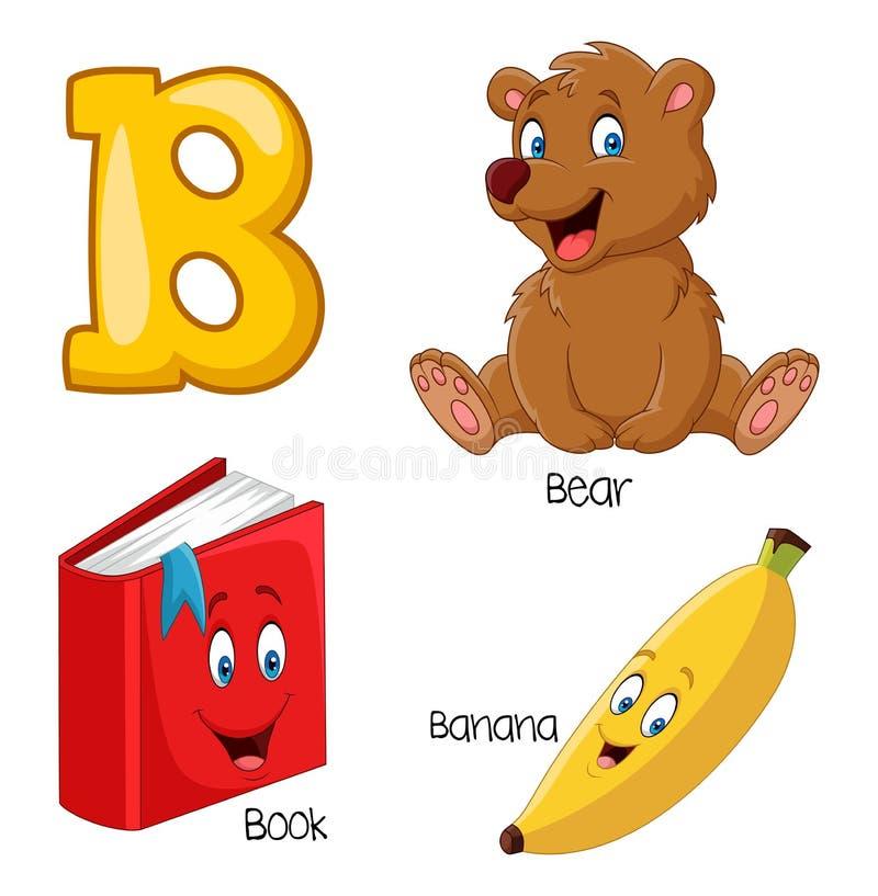 Cartoon B alphabet. Illustration of Cartoon B alphabet vector illustration