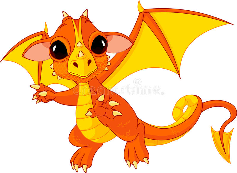 Download Cartoon baby dragon stock vector. Image of artwork, isolated - 18940776