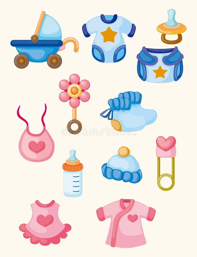Download Cartoon baby good icon set stock vector. Illustration of child - 21883623
