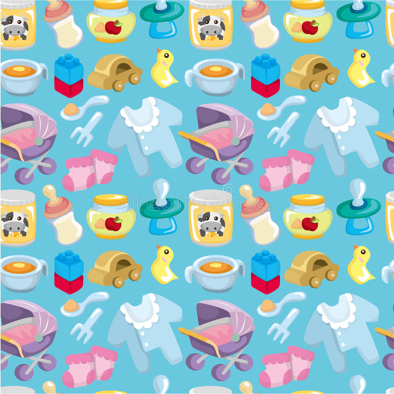 Download Cartoon Baby Good Seamless Pattern Stock Image - Image: 19384791