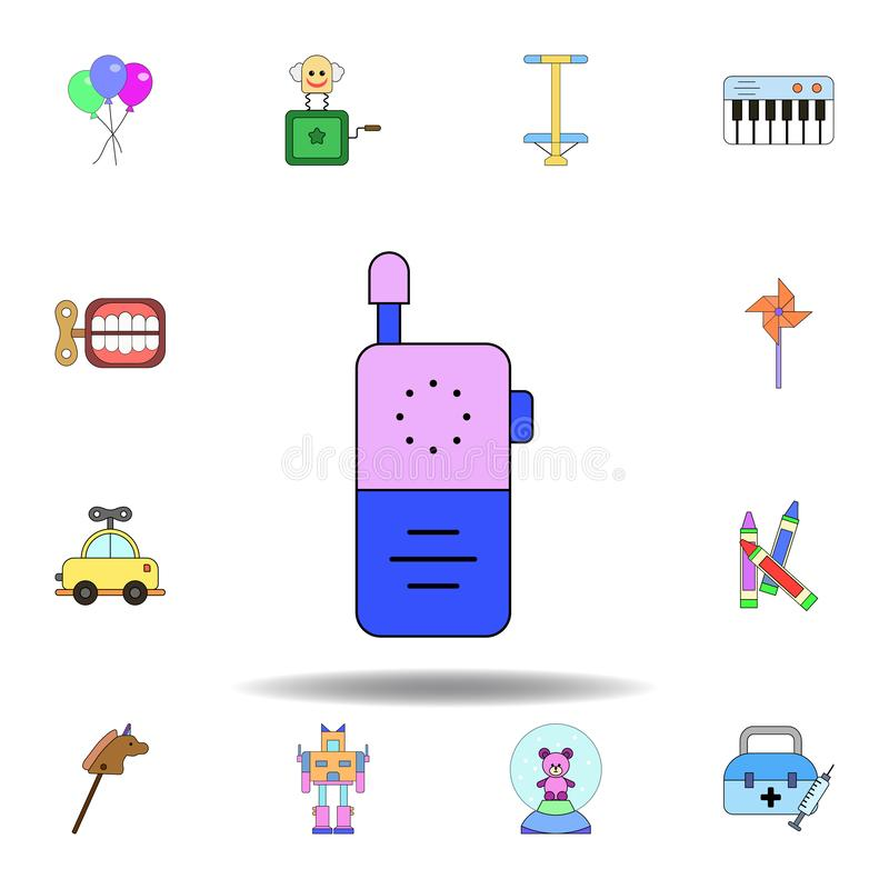 cartoon baby phone toy colored icon. set of children toys illustration icons. signs, symbols can be used for web, logo, mobile app royalty free illustration
