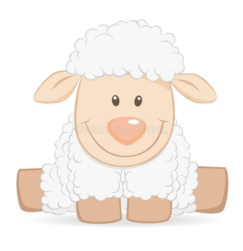 Cartoon baby sheep royalty free illustration