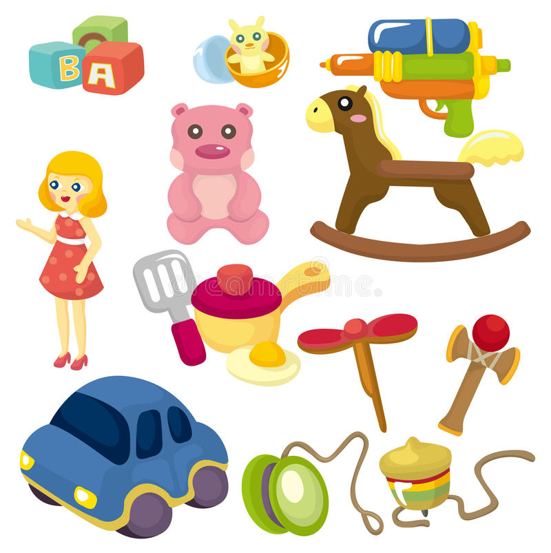 Cartoon Baby Toy Icon Stock Photo