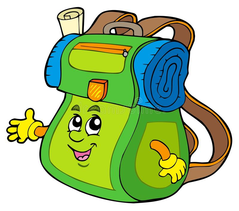 Cartoon Backpack Stock Photos