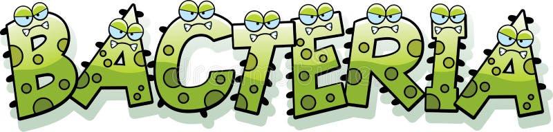 Cartoon Bacteria Text royalty free illustration
