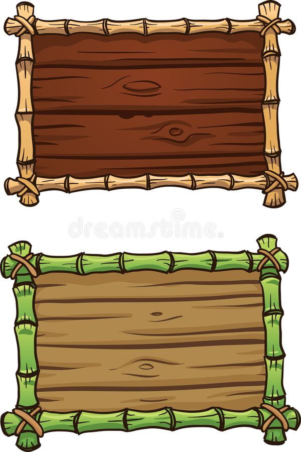 Cartoon bamboo frames royalty free illustration