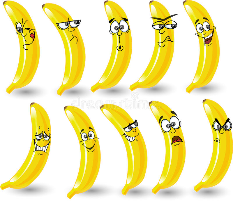 Download Cartoon Bananas With Emotions,vector Stock Vector - Illustration of fresh, icons: 22009512