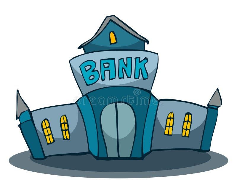 Cartoon Bank Building. Stock Vector. Illustration Of