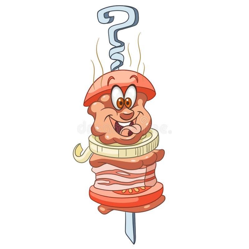 Cartoon Barbecue Food vector illustration