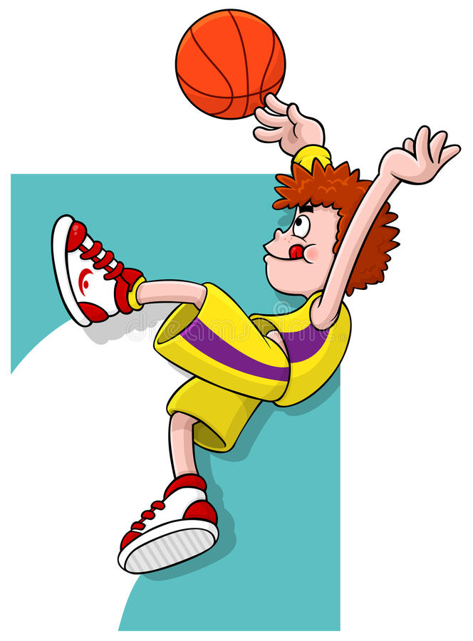 Download Cartoon Basketball player stock vector. Illustration of competition - 20900926