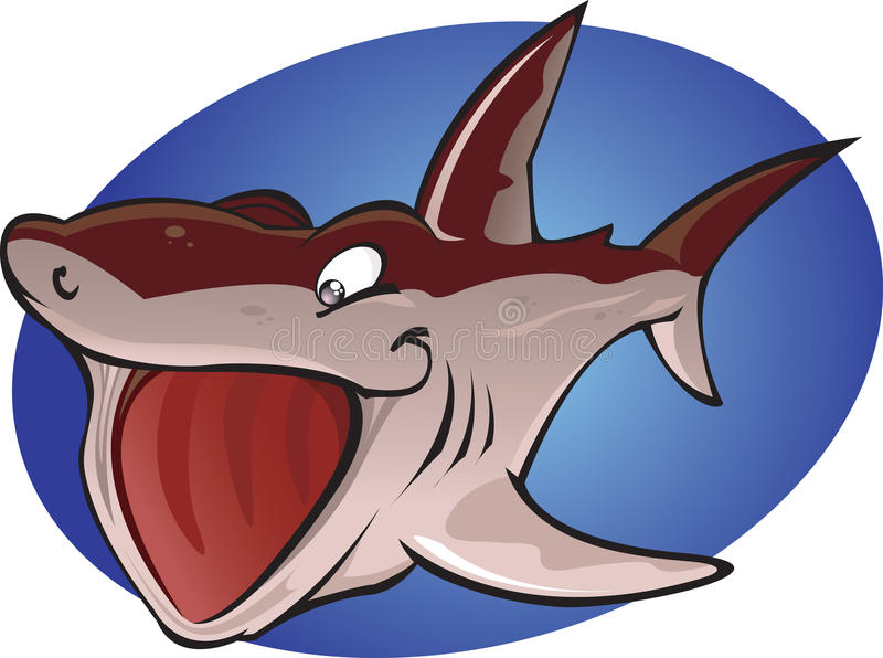 Download Cartoon Basking Shark stock illustration. Image of fear - 22987096