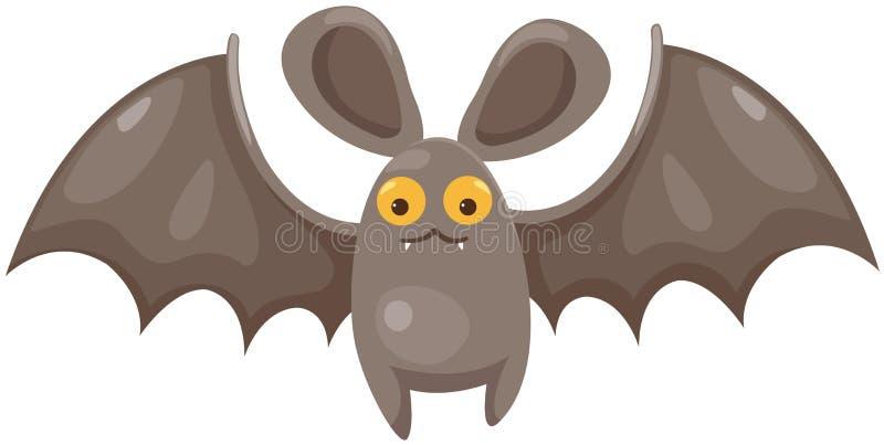 Cartoon bat. Illustration of isolated cartoon bat on white background vector illustration