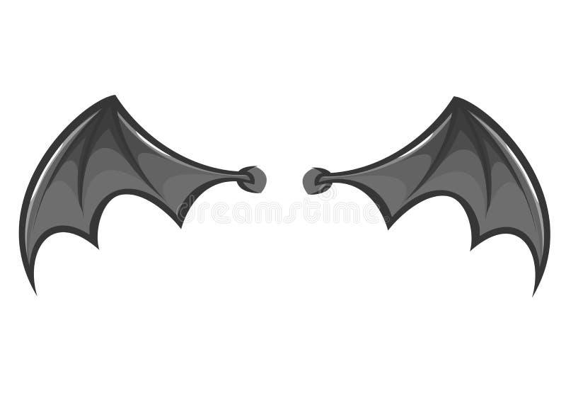 Cartoon bat or monster wings. Vector illustration royalty free stock image