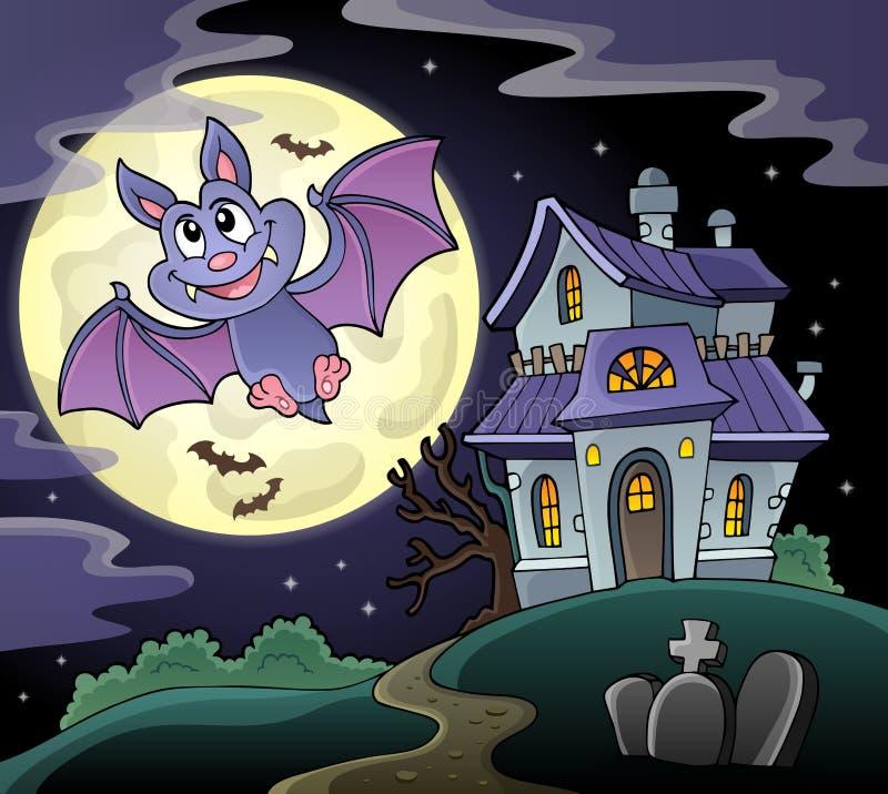 Cartoon bat topic image 2. Eps10 vector illustration vector illustration