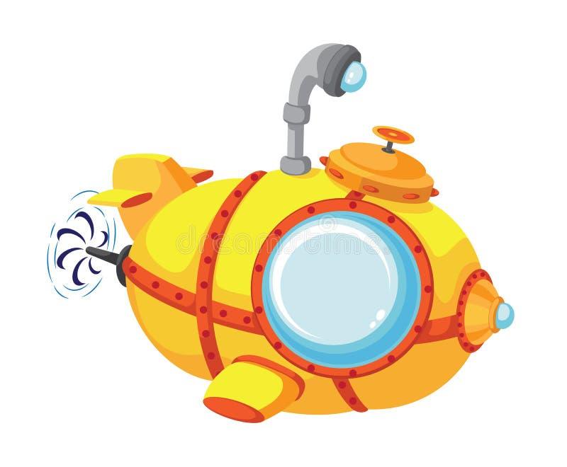 Download Cartoon bathyscaphe stock vector. Image of ship, travel - 37944219