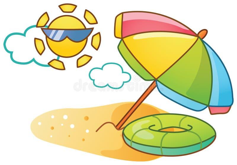 Cartoon beach illustration stock illustration
