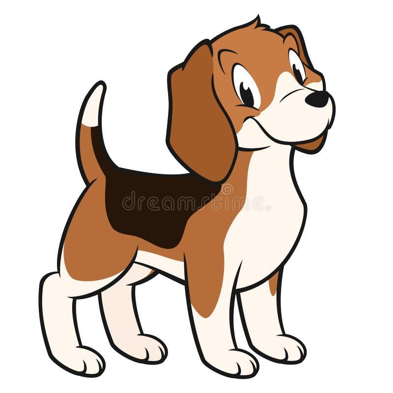 Cartoon Beagle. Cartoon vector illustration of a funny beagle for design element royalty free illustration