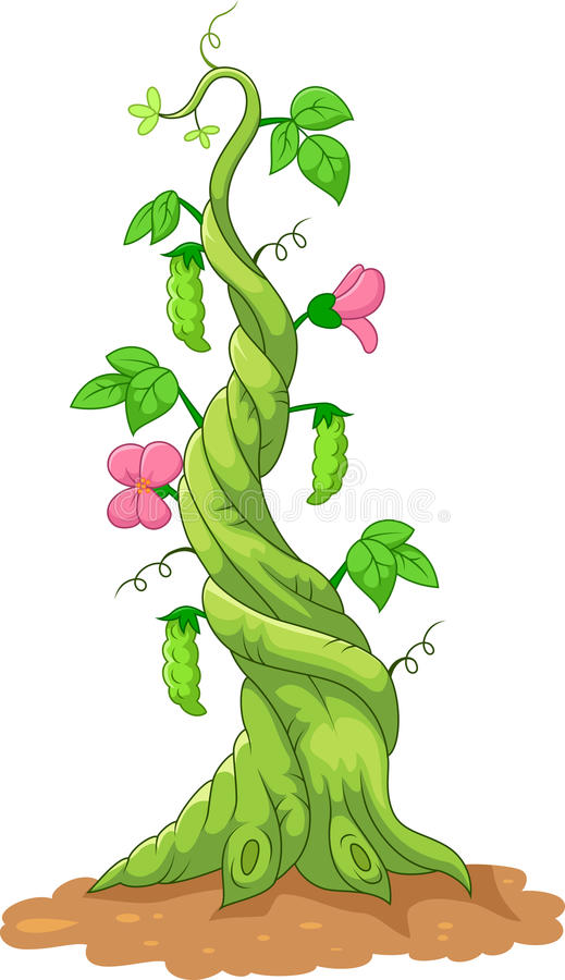 Free Cartoon Bean Stalk Royalty Free Stock Image - 50839896