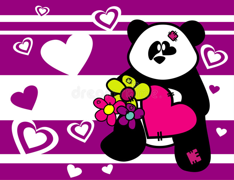 Download Cartoon Bear Animals In Love Stock Vector - Image: 4157835
